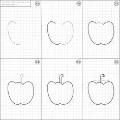 Learn to draw apple for kids