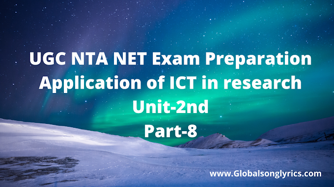 UGC NTA NET Exam Preparation |Application of ICT in research| Unit-2nd| Part-8|