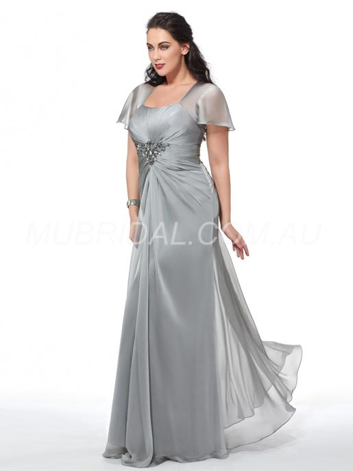 Prom Summer Glamorous & Dramatic Beading Floor-Length Winter Wedding Party Formal Dress