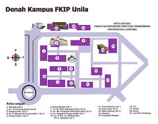 Denah Letak FKIP Unila