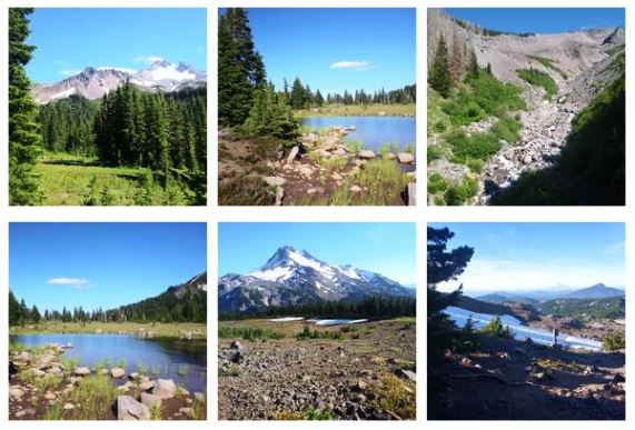scenery from the Pacific Crest Trail