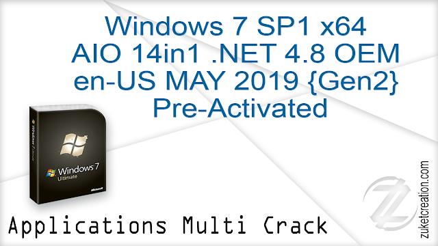 Windows 7 SP1 x64 AIO 14in1 .NET 4.8 OEM en-US MAY 2019 {Gen2} Pre-Activated   |  3.12 GB