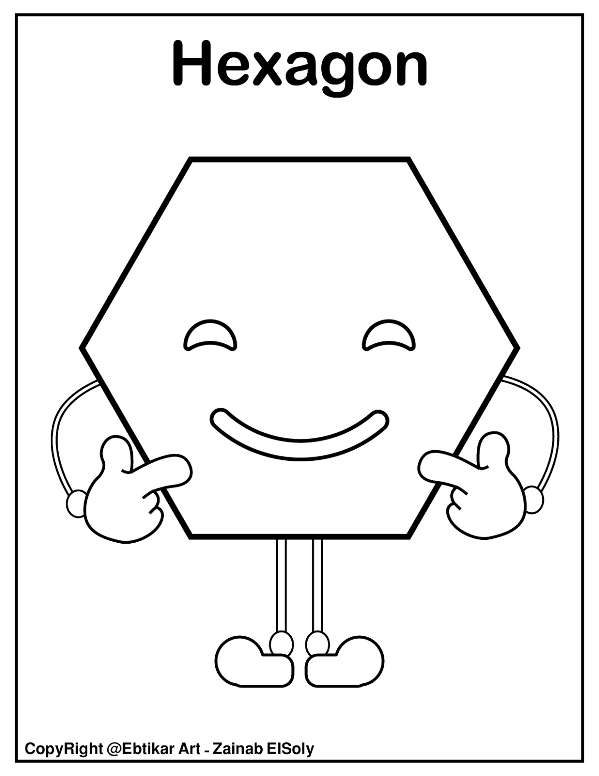 Set Of Emoji Basic Shapes For Kids Coloring Pages