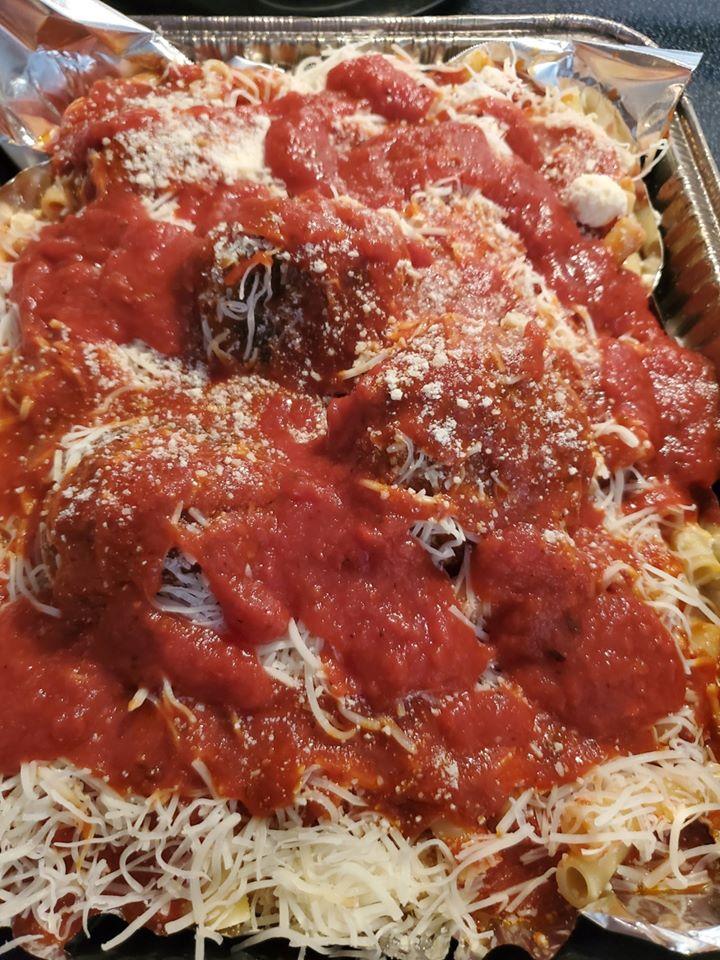how to make Italian baked ziti this is the ziti photo