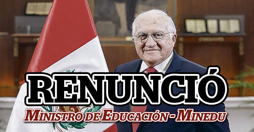 MINEDU: Renunció Fernando Antonio D'alessio Ipinza, Ministro de Educación de Manuel Merino