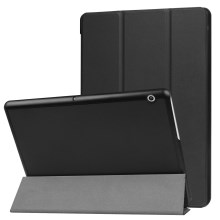 Tri-fold Stand PU Leather Flip Case for Huawei MediaPad T3 10 - Black