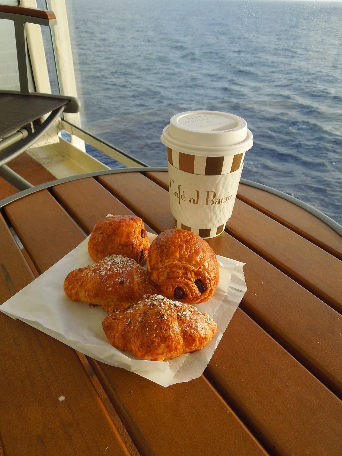 croissants on the balcony
