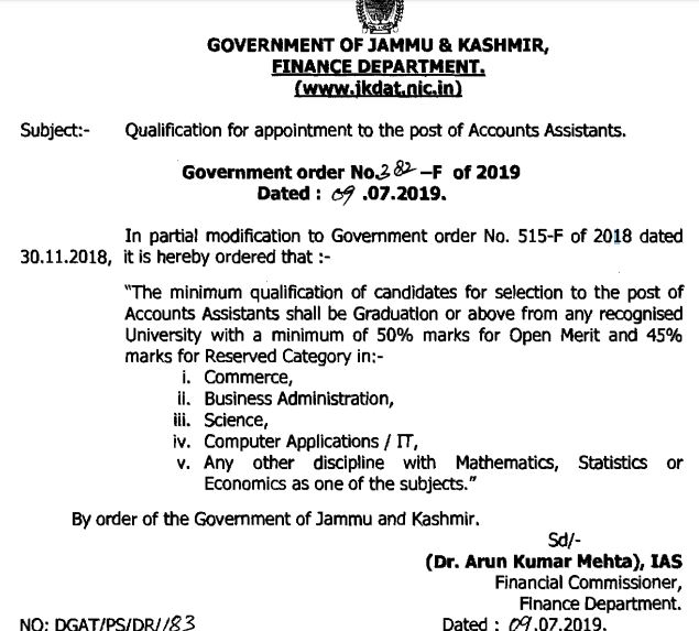 Who can apply for 2000 Accounts Assistant Posts in J&K