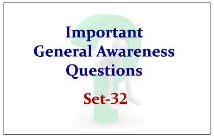 SBI PO Exam 2015- GK Quiz Set-32