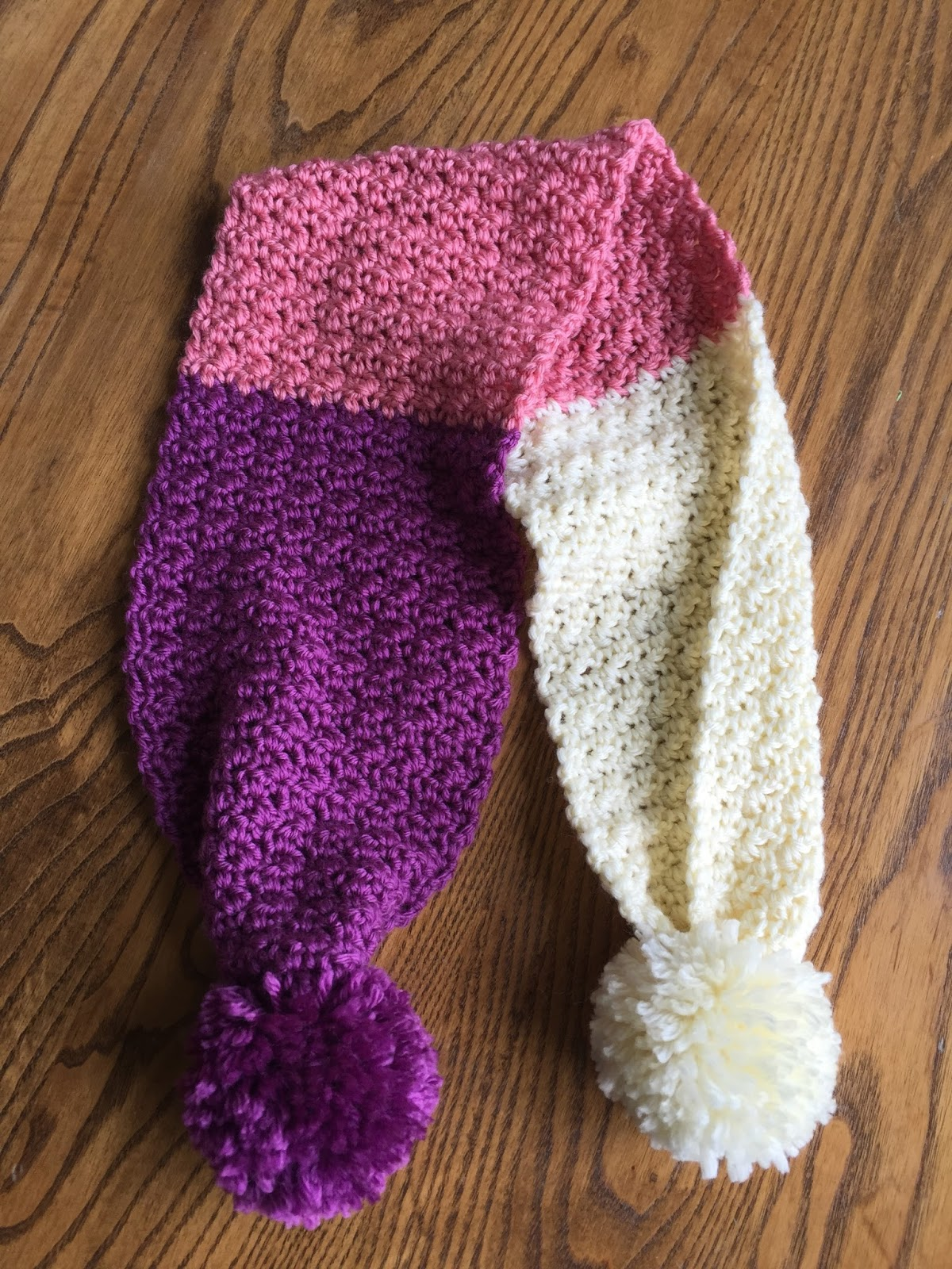 Skein And Hook Free Crochet Pattern The Greene Pom Pom Scarf