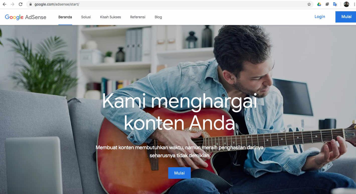 Daftarkan di Google AdSense
