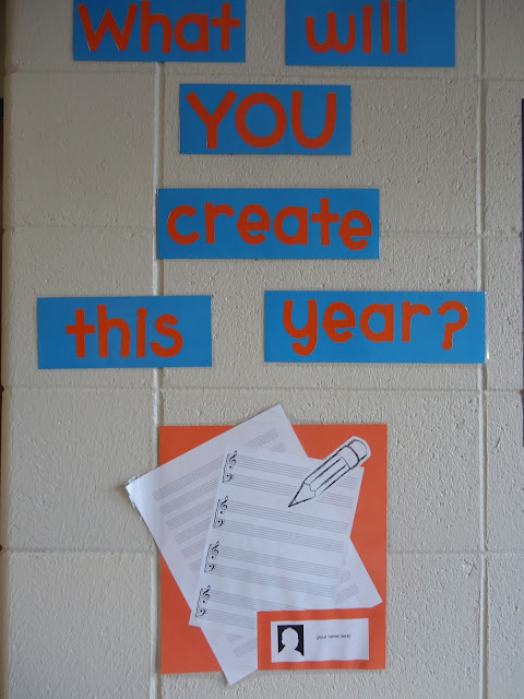 What will YOU create this year beginning-of-the-year bulletin board music