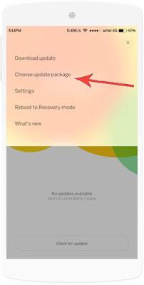 Choose update package