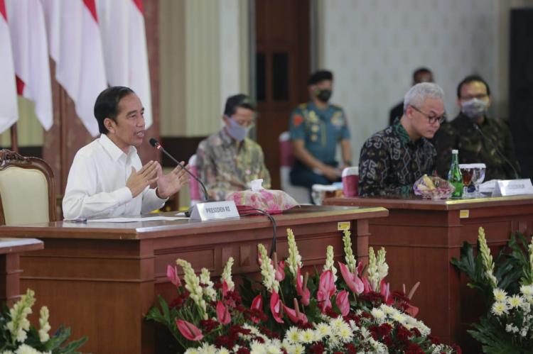 Kunker Presiden, Ganjar Paparkan Progres Penanganan Covid-19 di Jateng