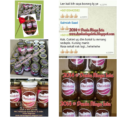 Food Review, Chocoletto, i-mukmin Chezzy Sauce, Monster Crazy Crunchy, customer, Chezzy Cheese, MCC, peminat tegar MCC, blogger, Kelab Blogger Ben Ashaari, blogshop, Dunia Niaga ieta Enterprise, agen pembekal Chocoletto, ABS, facebook, chocklate in jar, Chocoletto, i-mukmin Chezzy Sauce Dan Monster Crazy Crunchy?