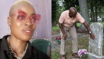 Nigerian lady narrates how her father sent gifts through a friend who doesn't know his died