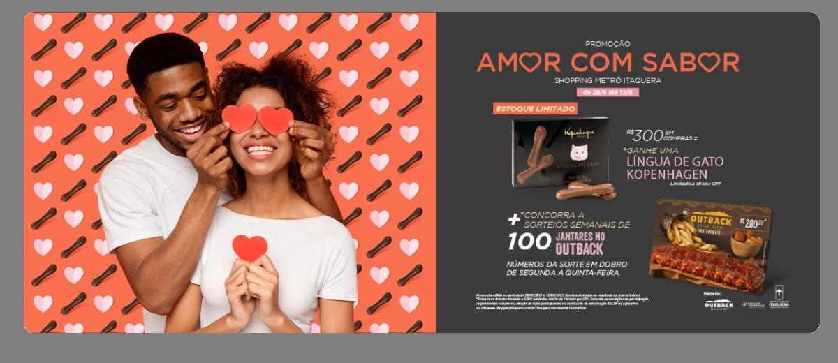 Promoção Dia dos Namorados 2021 Itaquera Shopping Metrô - Chocolates e Jantares
