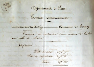 document construction mairie 1844 Corny Eure 27