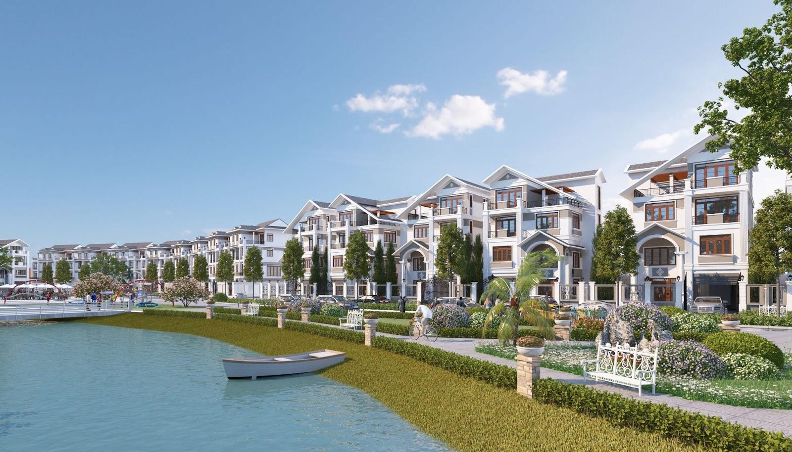 Biệt thự đơn lập dự án Bách Việt Lake Garden Bắc Giang