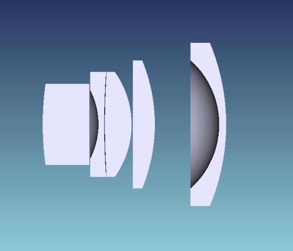 Оптическая схема объектива 7Artisans 35mm f/5.6