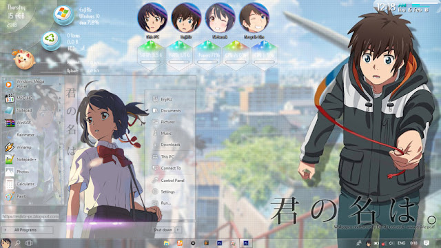 Windows 10 Ver. 1709 Theme Kimi no Nawa. by Enji Riz
