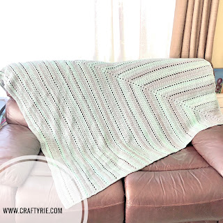 a gorgeous ombre crochet blanket by CraftyRie
