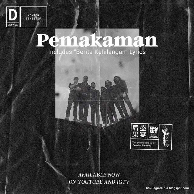Lirik Lagu .Feast - Pemakaman / Berita Kehilangan ft. Rayssa Dynta