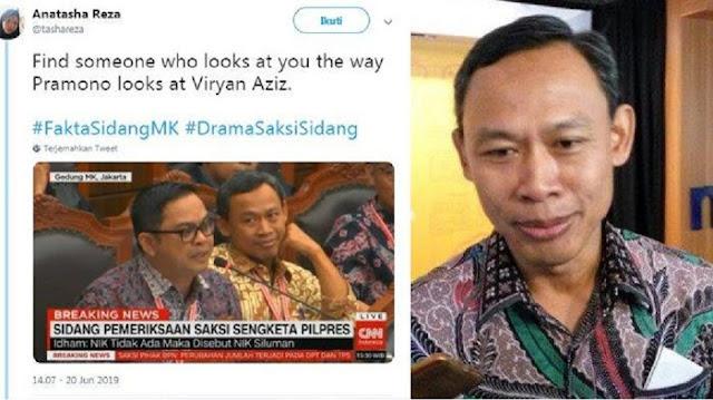 Foto Tatapan Mata ke Viryan Aziz Viral, Komisioner KPU Pramono Ungkap Kondisi Sebenarnya