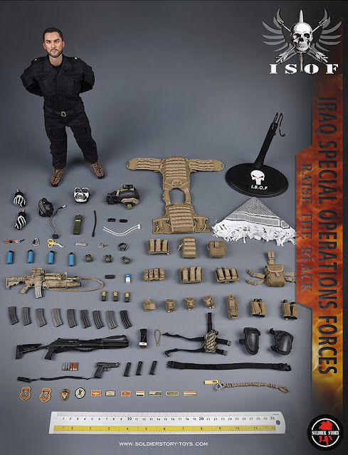 """osw.zone Preview Soldier Story 1/6 Special Iraqi forces """"ISOF"""" 12-inch military figure"""