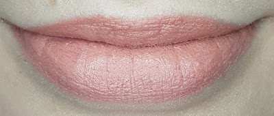 Avon True Colour Delicate Matte Lipstick lip swatch in Breathless Nude