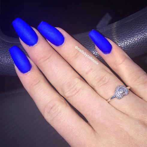 blue nail desings