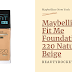 Maybelline Fit Me Foundation 220 Review