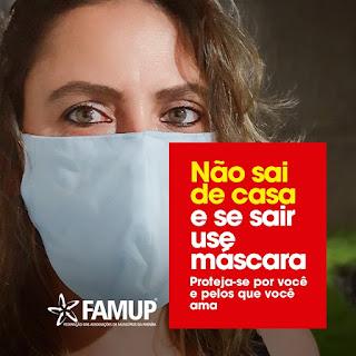 Famup lança campanha que estimula uso de máscaras caseiras pela população