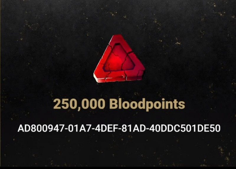 Dead by Daylight promo codes for 250,000 Blood Points, 1,000 Prismatic Shards and 10 Fragments