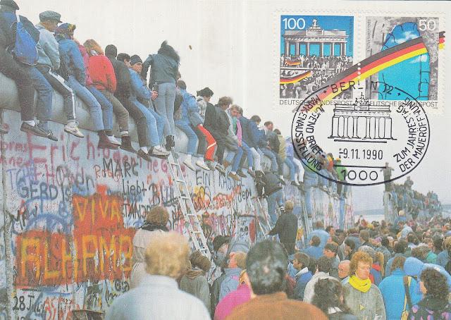 Maxi Card Germany 1990 - Fall of Berlin Wall
