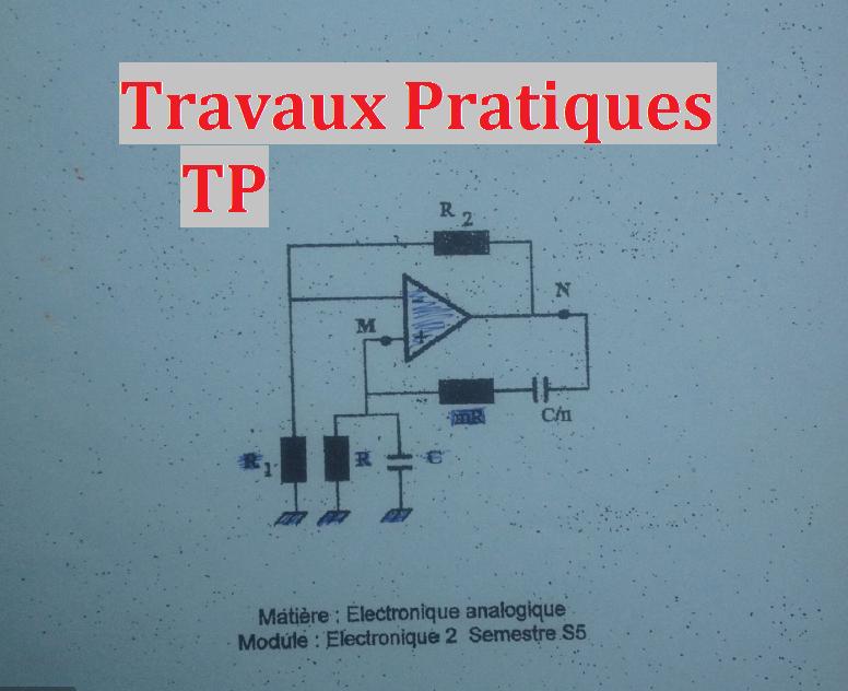 Travaux Pratiques Tp De Electronique Analogique 2 Science