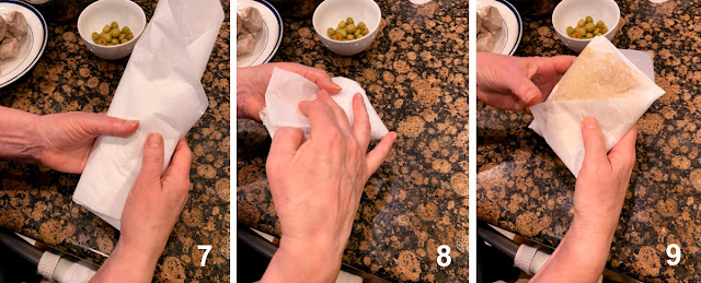 Steps 7 to 9 of Wrapping Paches