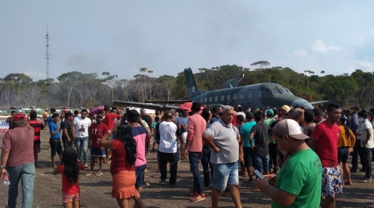 Garimpeiros invadem pista em Jacareacanga e impedem voo de avião militar