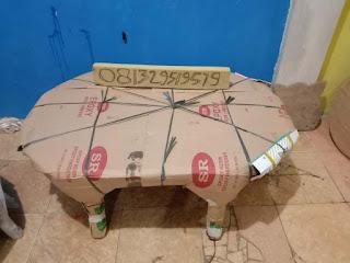 cara Membungkus Meja Oshin dengan Kardus Bekas
