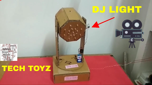 how to make a DJ Light at home | Tech Toyz videos, how to make DJ Light