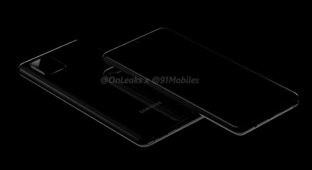 Render Samsung Galaxy Note 10 Lite. Foto: 91mobiles