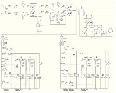 Принципиальная схема работы установки  кондиционирования воздуха УПС «Профессор Миняев»