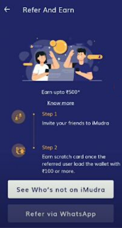 referral code imudra app