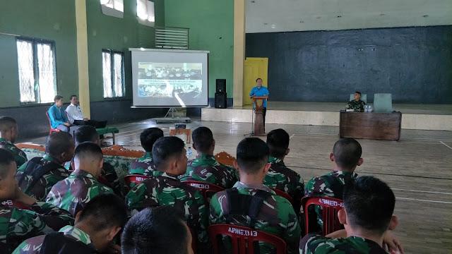 Yonarmed 13 Kostrad Terima Sosialisasi dan Penyuluhan P4GN di Sukabumi