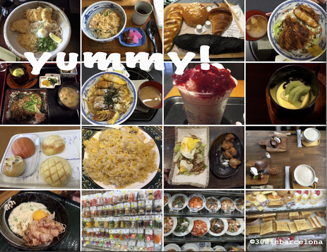 Collage of japan meals