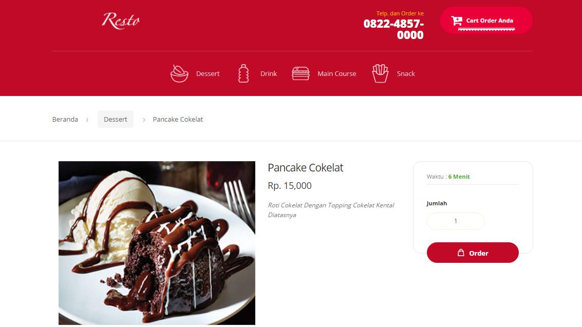 Source Code Aplikasi Pemesanan Menu Restoran Berbasis Web