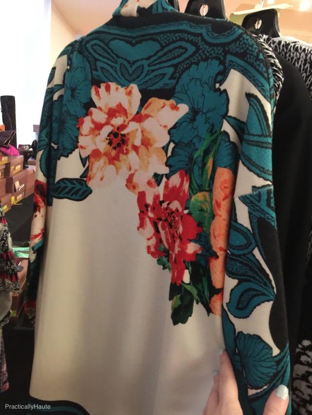 Etro sample sale floral cardigan back