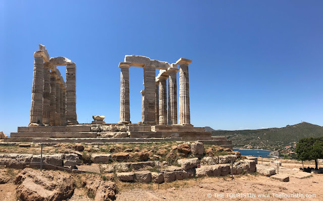 Temple of Poseidon in Sounion near Athens in Greece