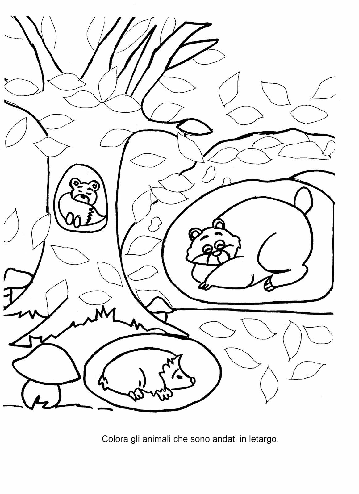 La maestra linda autunno gli animali che vanno in letargo for Maestra mary carnevale