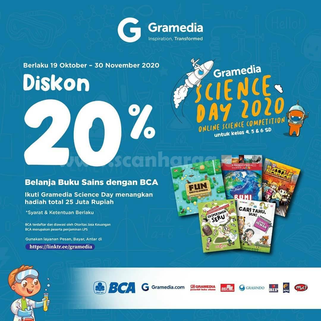 Gramedia Promo Buku Science [Sains] Diskon 20% Pembayaran dengan BCA